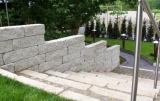 Stenen afscheiding tuinaanleg